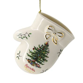 Amazoncom Spode Babys First Christmas Mitten Annual 2015 Tree