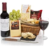 Wine & Cheese Hamper - Food Hampers and Gift Baskets with Cheese - Red Wine Gift Hampers - Free UK Delivery