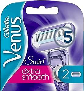 Gillette Venus Swirl Extra Smooth - Afeitadora para Mujer, 2 ...