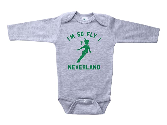d1ced7c07 Baffle Peter Pan Inspired Baby Onesie/Neverland/Funny Unisex Infant Outfit  (Newborn,
