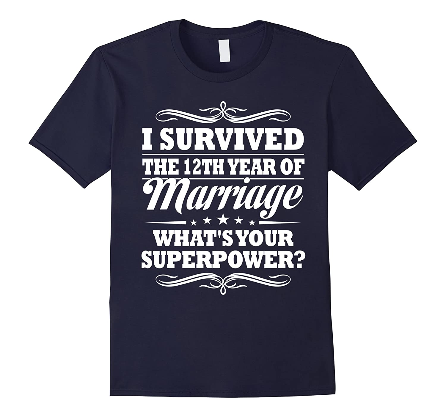 12th Wedding Anniversary Gift Ideas For Her/ Him- I Survived-Teeae