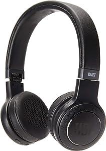 JBL Duet Bluetooth Wireless On-Ear Headphones - Black (Renewed)