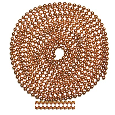 10 Foot Length Ball Chain, Number 10 Size, Copper, 10 Matching B Couplings: Home Improvement