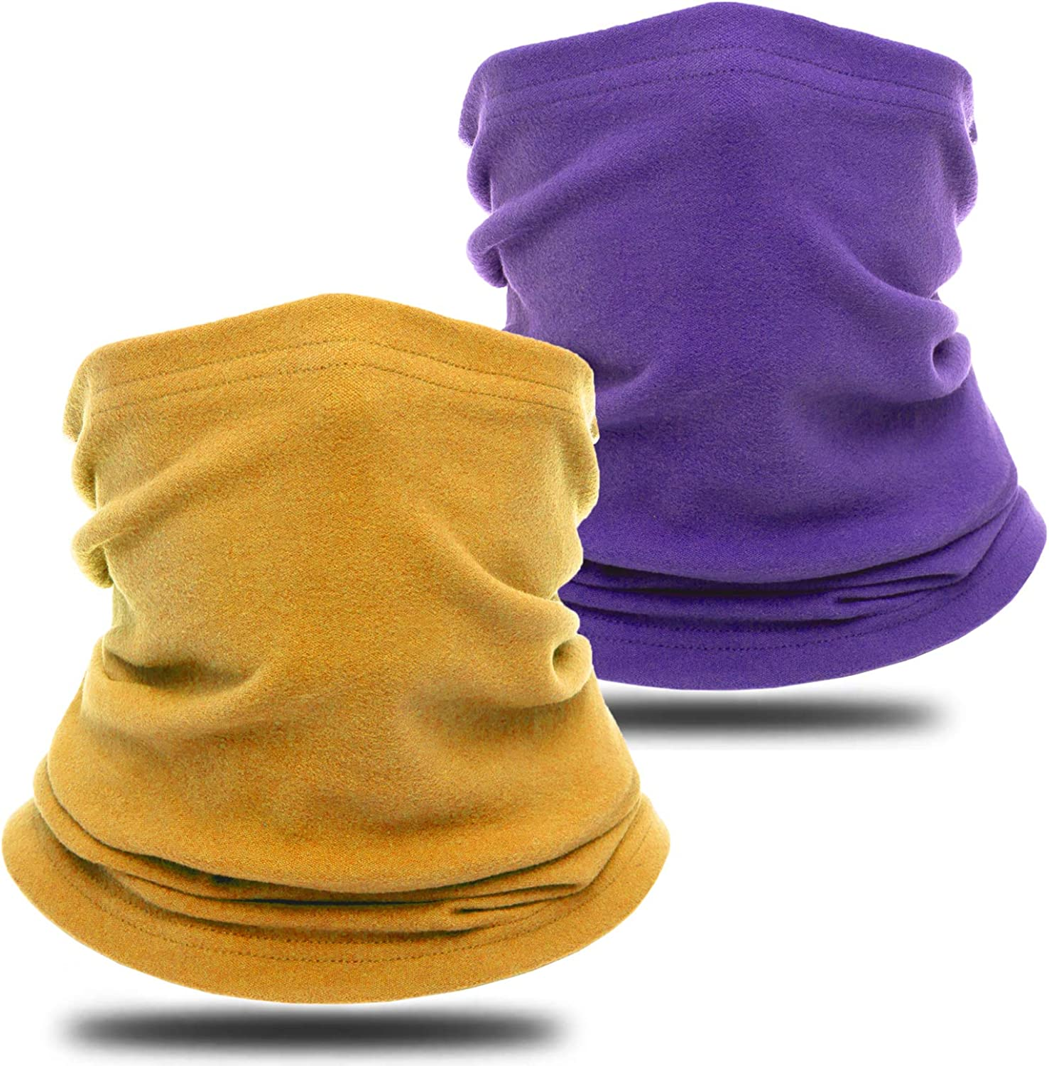 Neck Gaiter Warmer Winter Fleece Face Cover Windproof Balaclava Face Scarf Cold Weather Neck Warmers Gaiters for Women Men