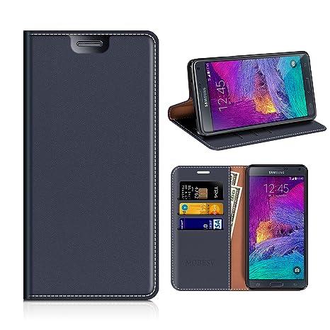 MOBESV Samsung Galaxy Note 4 Hülle Leder, Samsung Note 4 Tasche Lederhülle/Wallet Case/Ledertasche Handyhülle/Schutzhülle mit