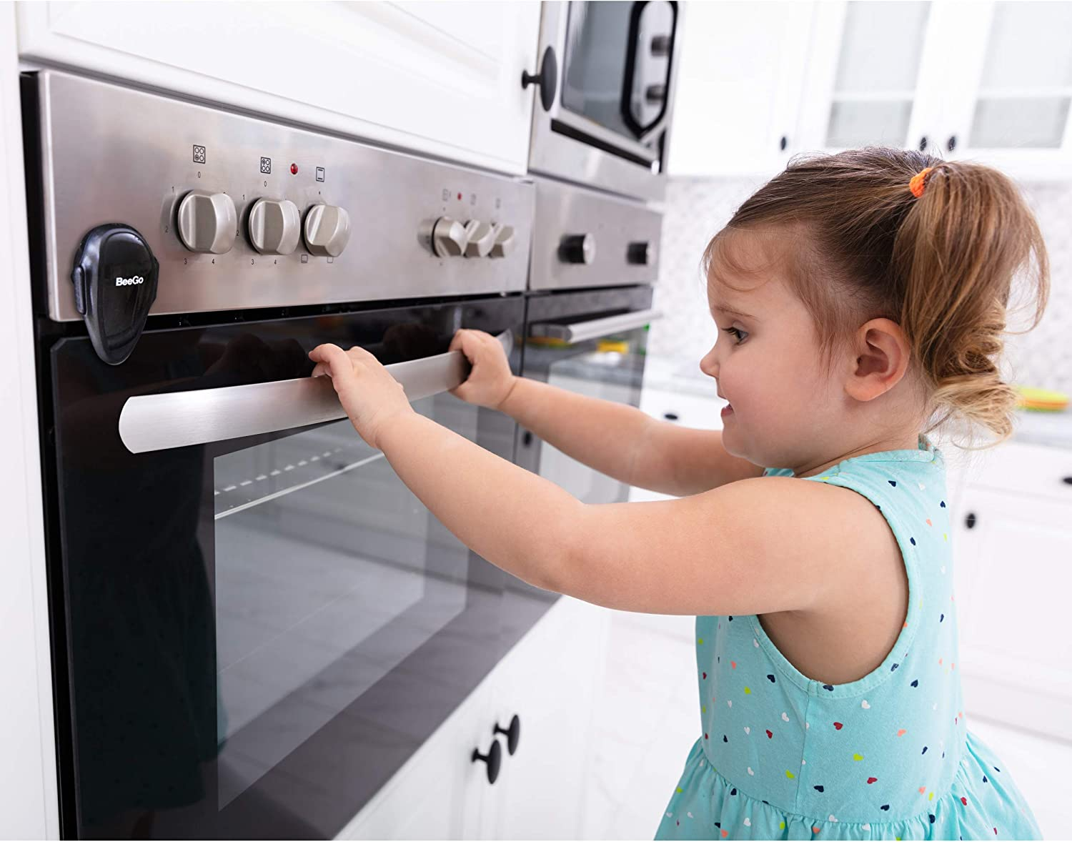 Easy Install Protect Babies /& Toddlers 1 x Lock BeeGo Oven Safety Child Lock