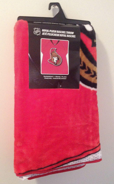 NHL Jersey Plush Raschel Throw 50 x 60