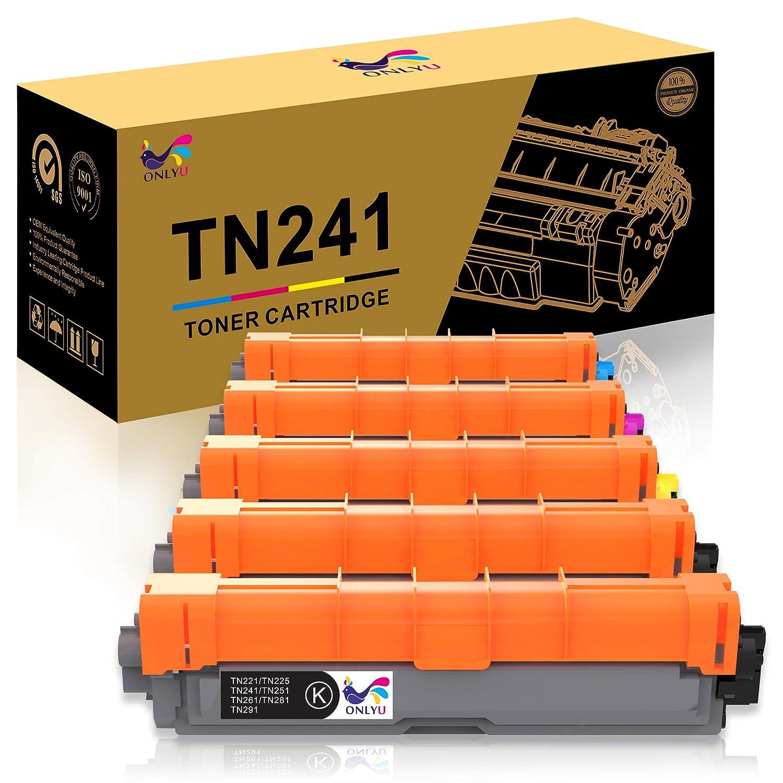 2N//1C//1M//1J ONLYU TN241 TN245 Compatible pour Brother TN241 245 pour Brother HL-3140CW HL-3150CDW HL-3170CDW HL-3142CW HL-3152CDW HL-3172CDW DCP-9015CDW DCP-9020CDW MFC-9130CW MFC-9140CDN 5paquet