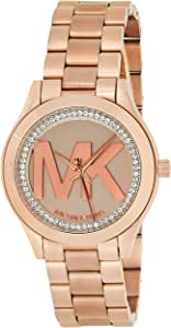 Michael Kors Womens Quartz Watch, Analog Display and Stainless Steel Strap MK3549