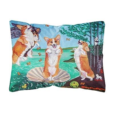 Caroline's Treasures 7319PW1216 Corgi Birth of Venus Fabric Decorative Pillow, 12H x16W, Multicolor : Garden & Outdoor