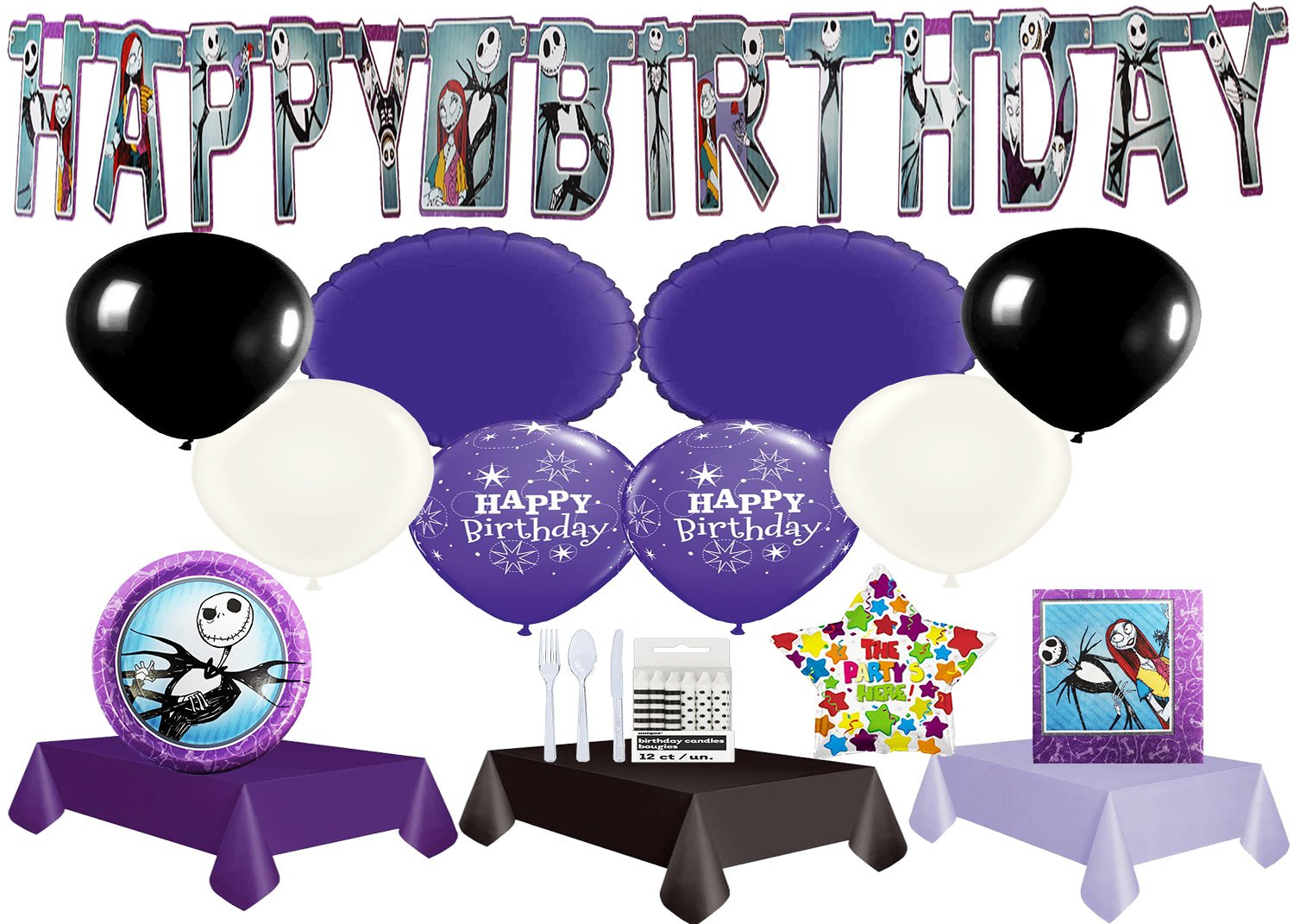 The Nightmare Before Christmas Ultimate Party Pack with Balloons