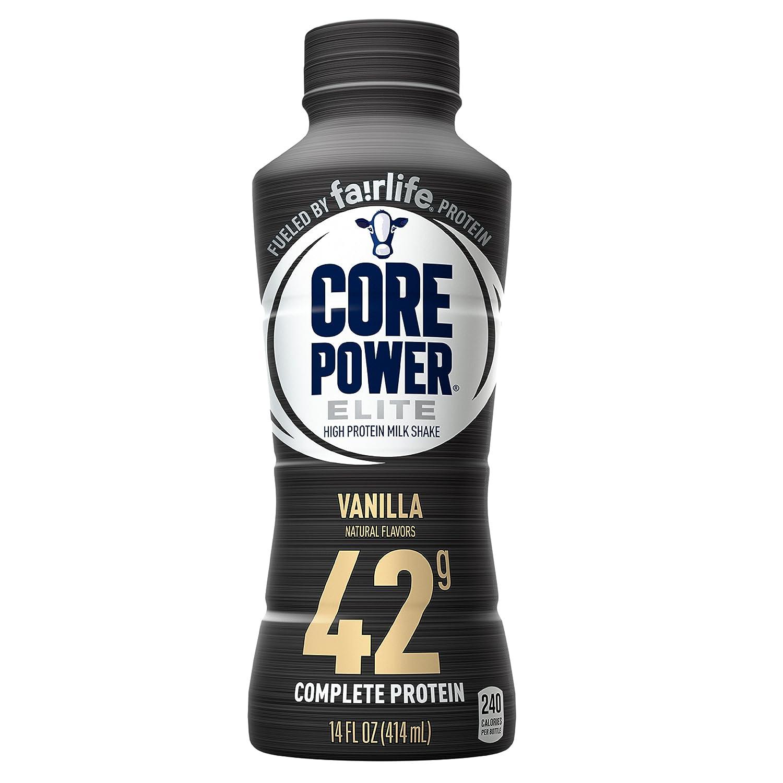 Core Power by fairlife Elite High Protein (42g) Milk Shake, 14 fl oz bottles, (Pack of 12) (Vanilla)