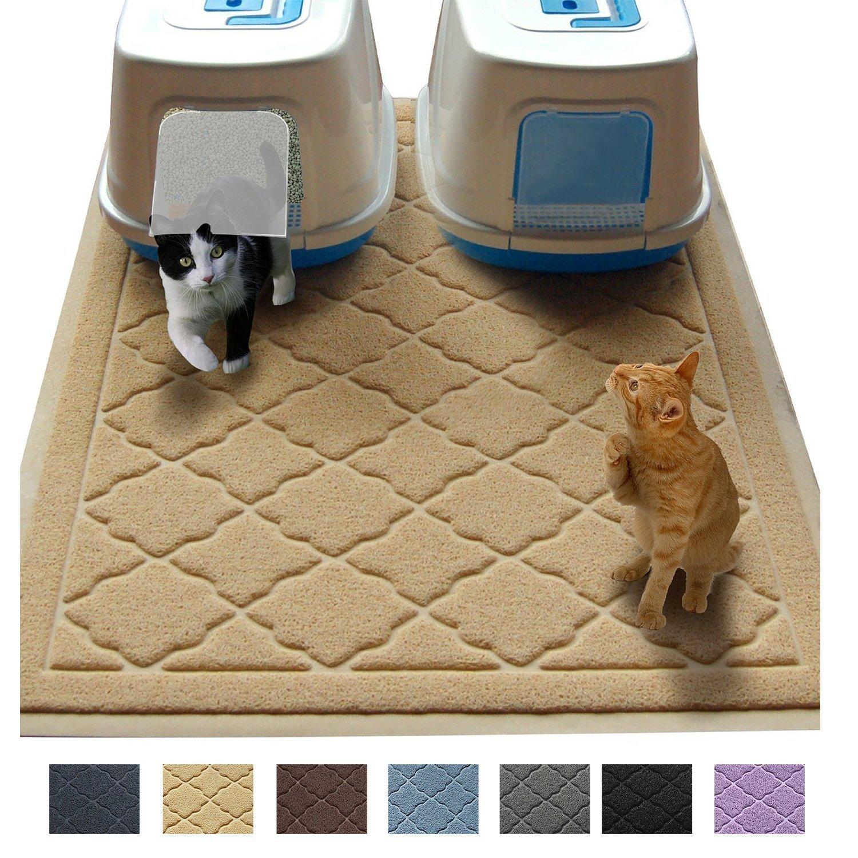 """JUMBO Litter Mat 47"""" x 36"""" Cat Litter Mat, Traps Messes, Easy Clean, Durable, Non Toxic Trapper Rug - Litter Box Mat, Cat Mat, Kitty Litter Mat Easyology f"""