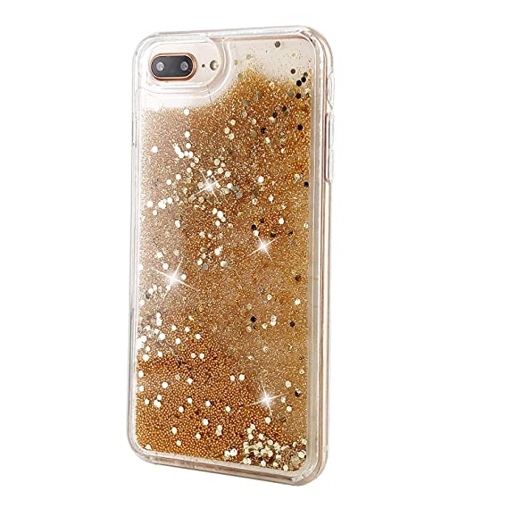 amazon com ucolor gold glitter case for iphone 7 plus iphone 8 plus