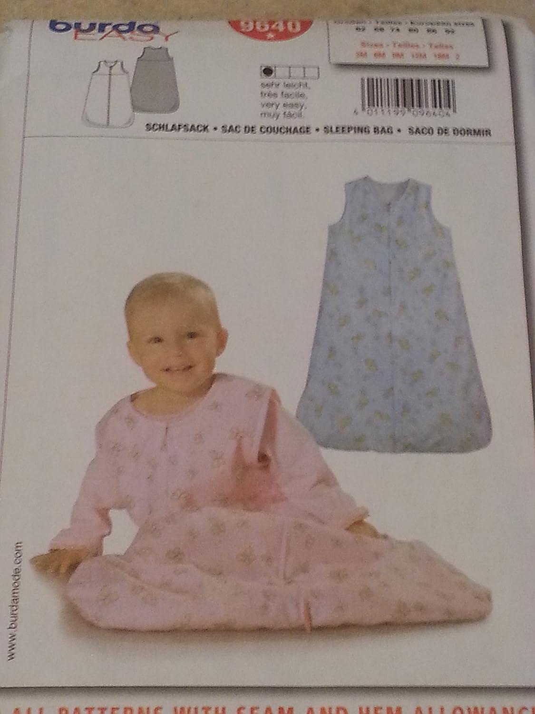 Amazon.com: Burda 9640 Infants Sleeping Sac or Bag Sizes 3 Months-2 yrs.: Kitchen & Dining