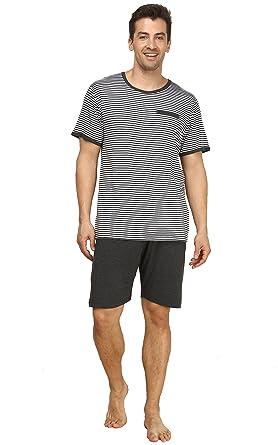 251d76d59506 Suntasty Men's Summer Sleepwear Striped Short Sleeve Pajama Shorts and Top  Set(Grey, S, 1004M) at Amazon Men's Clothing store: