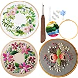 Embroidery Starter Kits for Adults Beginners with Stamped Pattern, Cross Stitch Beginner Kits with English Instructions…