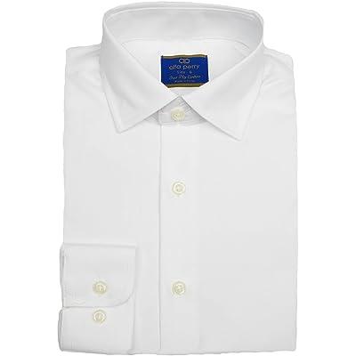 alfa perry Boys White Long Sleeve Dress Shirt - APSHB-SL7-BC