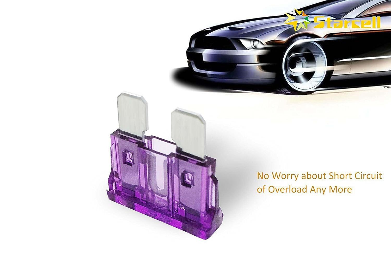 Fepito 150pcs Standard Car Fuses Assortment Blade Fuse 2a 3a 5a 75a Box Short Circuit 10a 15a 20a