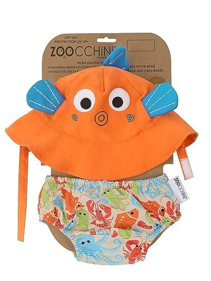 Zoocchini Swim Diaper and Sun Hat Set Sushi- 6-12m f7f300be3a8