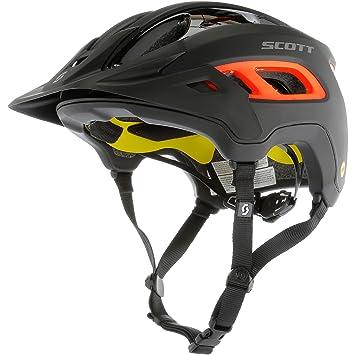 Scott bici Casco stego (ce) blk/orang mt m