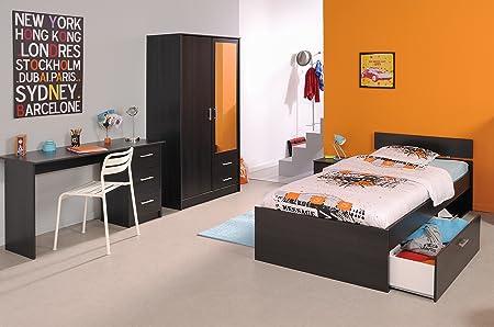 Parisot Bedroom Wardrobe With Piece Infinity Coffee Amazon - Parisot bedroom furniture