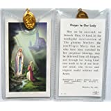 Our Lady of Lourdes ~ Prayer Card and Medal