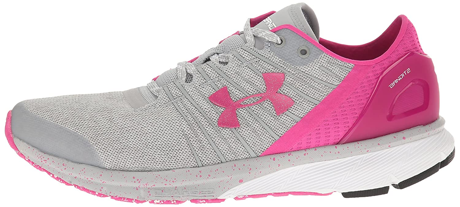 Under Armour Cross-Country Women's Charged Bandit 2 Cross-Country Armour Running Shoe B01GPKH2AY 8 M US|Overcast Gray (943)/White 525567
