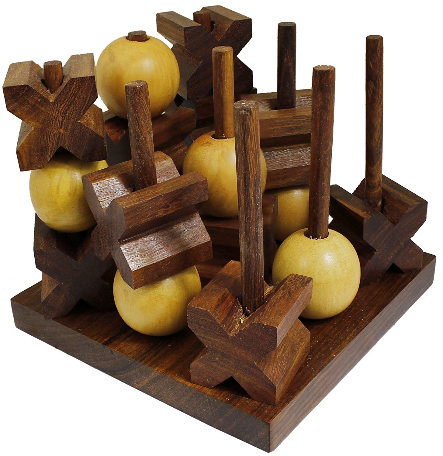 Tic-Tac-Toe 3D Strategy Wooden Game