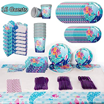 Amazon.com: Mermaid Birthday Party Supplies - Kit de ...