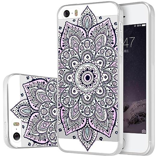42 opinioni per Custodia iPhone 5S , ivencase Cover iPhone SE / 5S / 5 Silicone Trasparente TPU