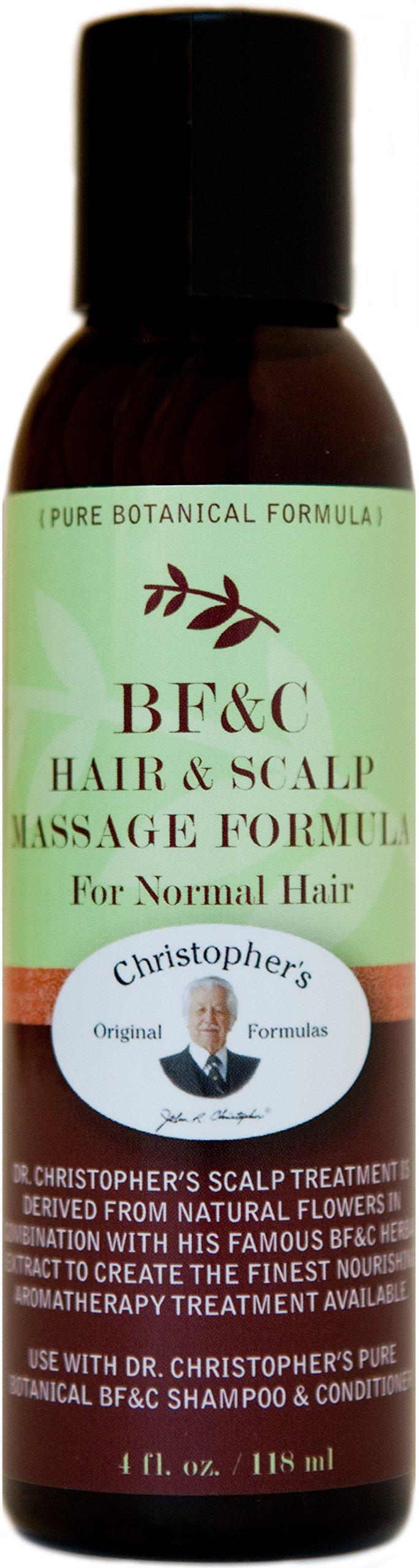 BF&C Hair & Scalp Massage Oil Dr. Christopher 4 oz Oil