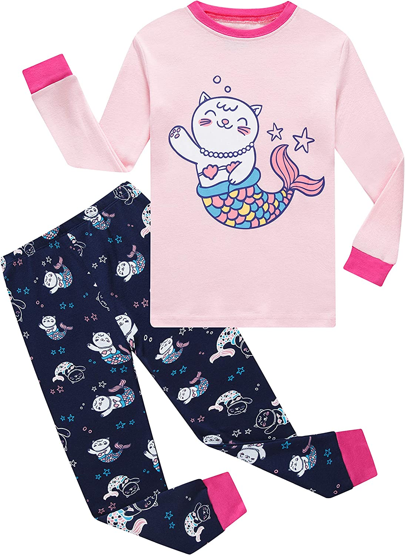 Family Feeling Zebra Little and Big Girls 2 Piece 100/% Cotton Pajamas Sets Kids Pjs
