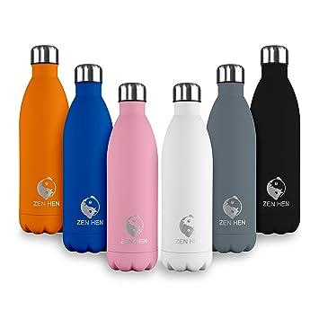 ZenHen Flasche - Vakuumisolierte, Doppelwandige Trinkflasche ...