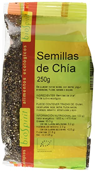 Biospirit Semillas de Chia Bio - 6 Paquetes de 500 gr - Total: 3000 gr