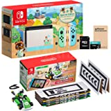 NS Console and Kart Holiday Combo: Switch Animal Crossing 32GB Console, Mario Kart Live: Home Circuit Luigi Set, Mytrix…
