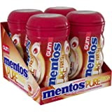 Mentos Pure Fresh Sugar-Free Chewing Gum with Xylitol, Cinnamon, Halloween Candy, Bulk, 50 Piece Bottle (Pack of 4)
