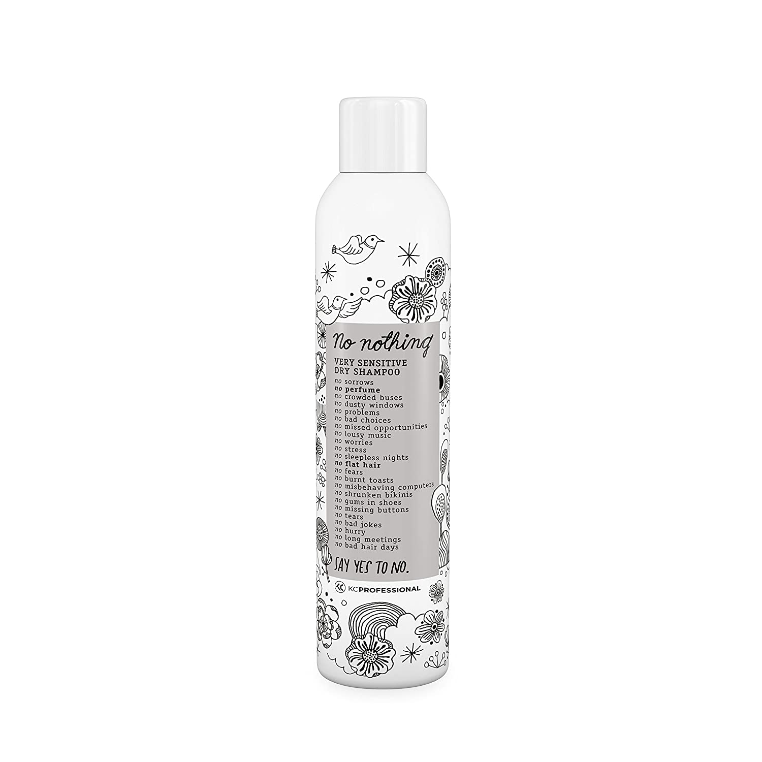 No nothing Very Sensitive Dry Shampoo - Fragrance Free Dry Shampoo, 100% Vegan, Hypoallergenic, Unscented, Gluten Free, Soy Free, 6.76 oz