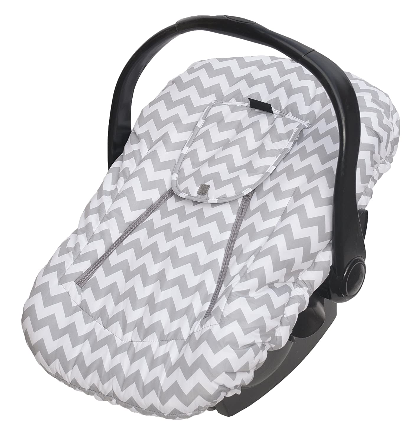 Jolly Jumper Sneak-A-Peek Deluxe , Grey and White Striped Car Seats 433-14