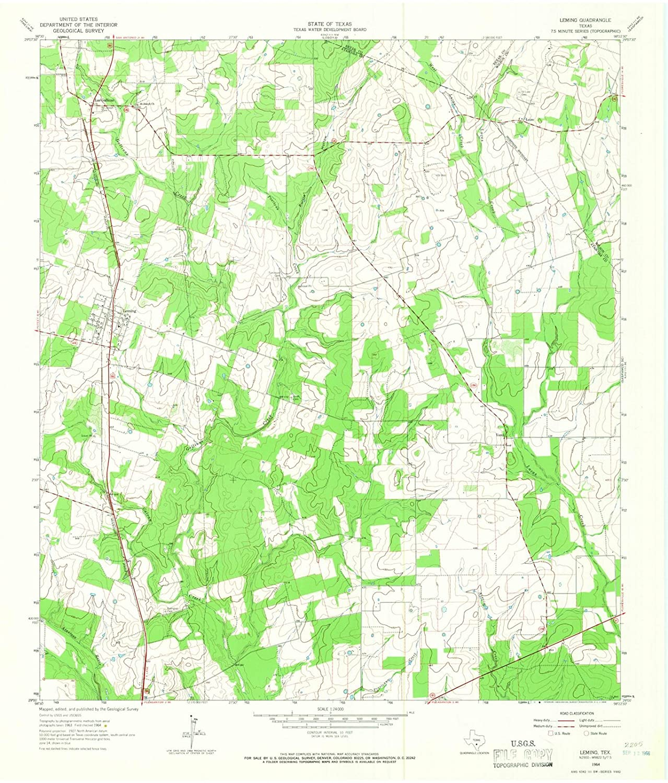 Topographic Map Washington Dc.Amazon Com Texas Maps 1964 Leming Tx Usgs Historical Topographic