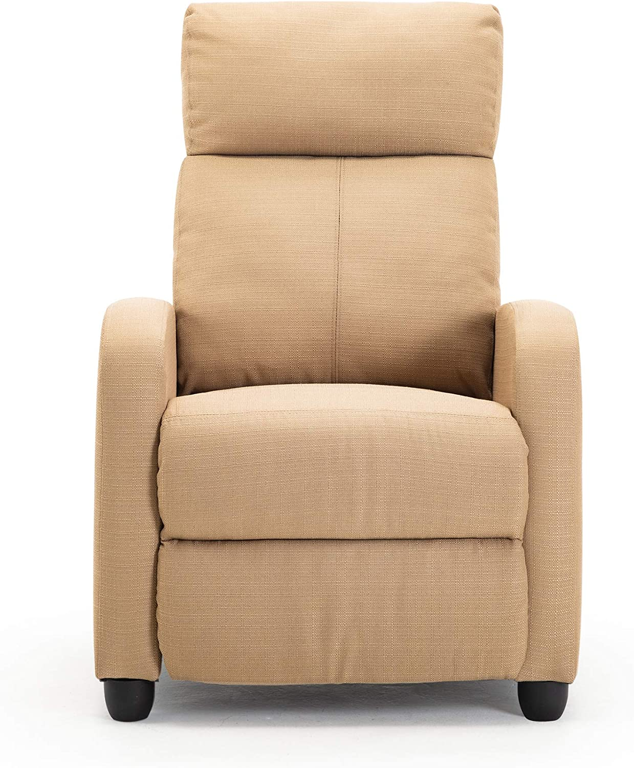 Recliner Chair for Living Room,Modern Fabric Sofa Home Theater Seating Lounge Chair(Beige)