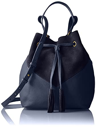 c9359a347f Amazon Brand - The Fix Mckenzie Suede and Leather Bucket Crossbody Bag