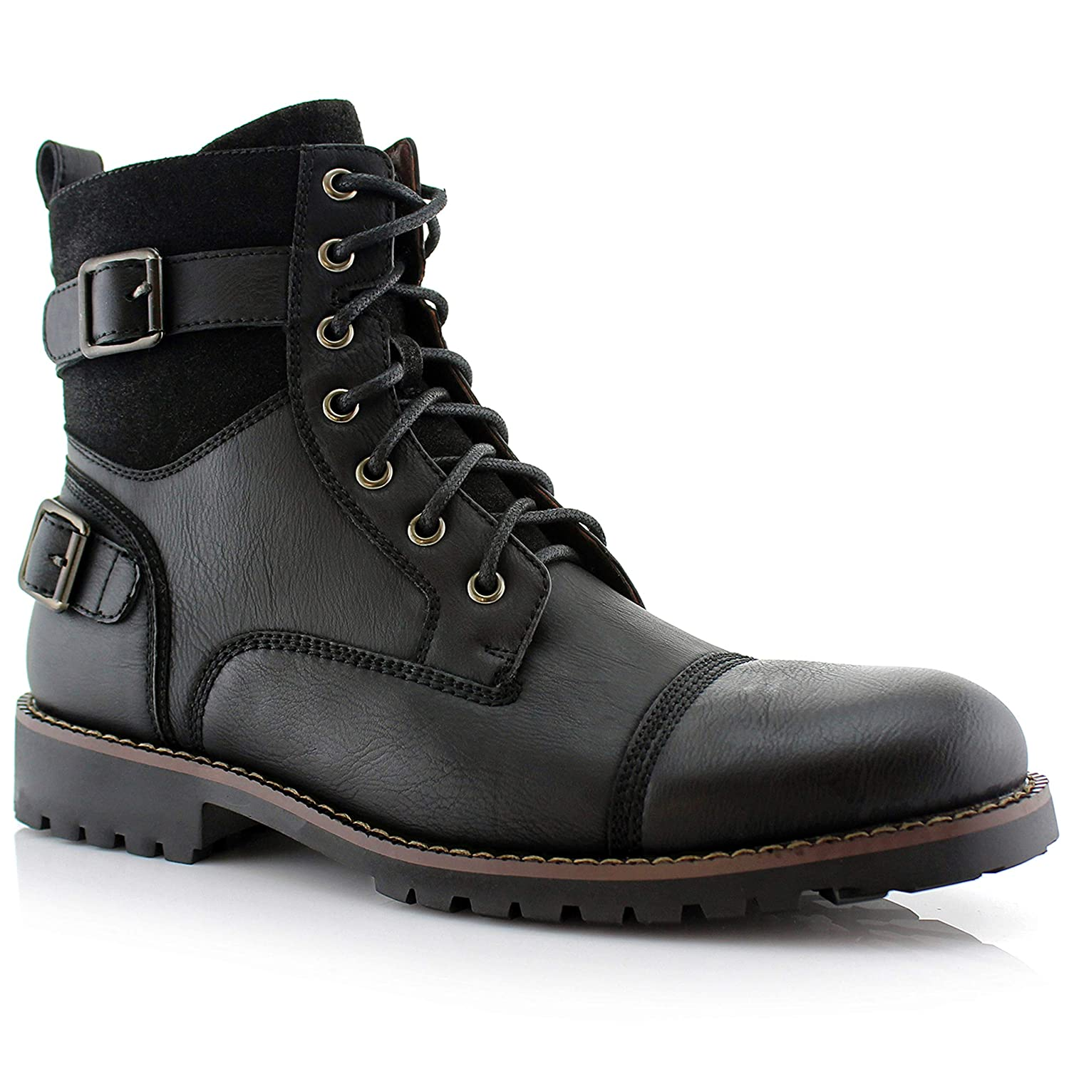Steampunk Boots and Shoes for Men Polar Fox Mens Patrick Combat Boot $49.99 AT vintagedancer.com