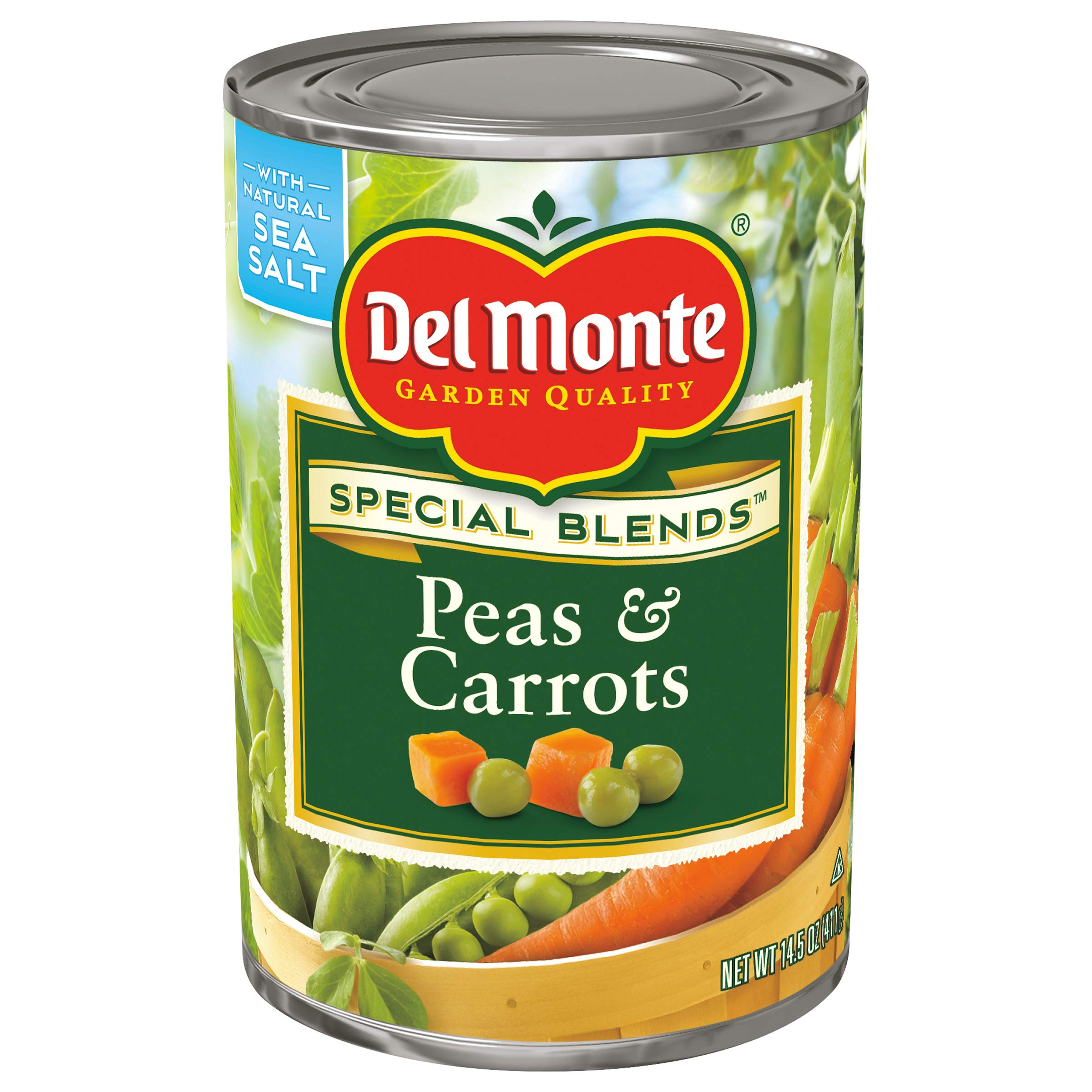 Del Monte Canned Harvest Select Peas & Carrots, 14.5-Ounce (Pack of 12)