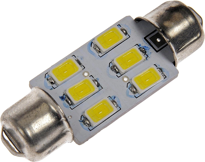 Dorman 211W-HP White LED Dome Light Bulb, (Pack of 1)