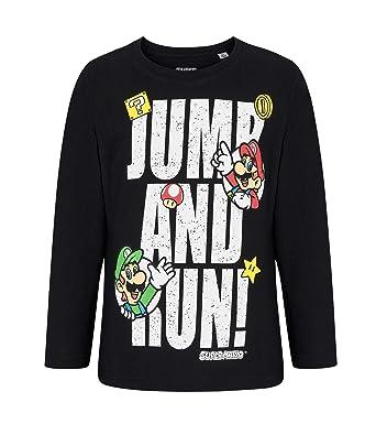 Sonderangebot Kauf echt lebendig und großartig im Stil Unbekannt Super Mario Langarmshirt schwarz