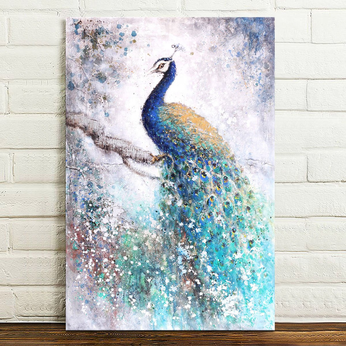 Hd Canvas Prints Home Wall Art Painting Picture Beautiful Peacock Unframed Decor