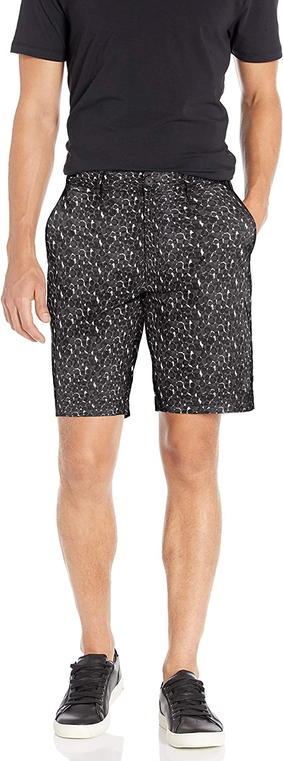 AX Armani Exchange Men's All-Over Printed Cotton Stretch Bermuda Short
