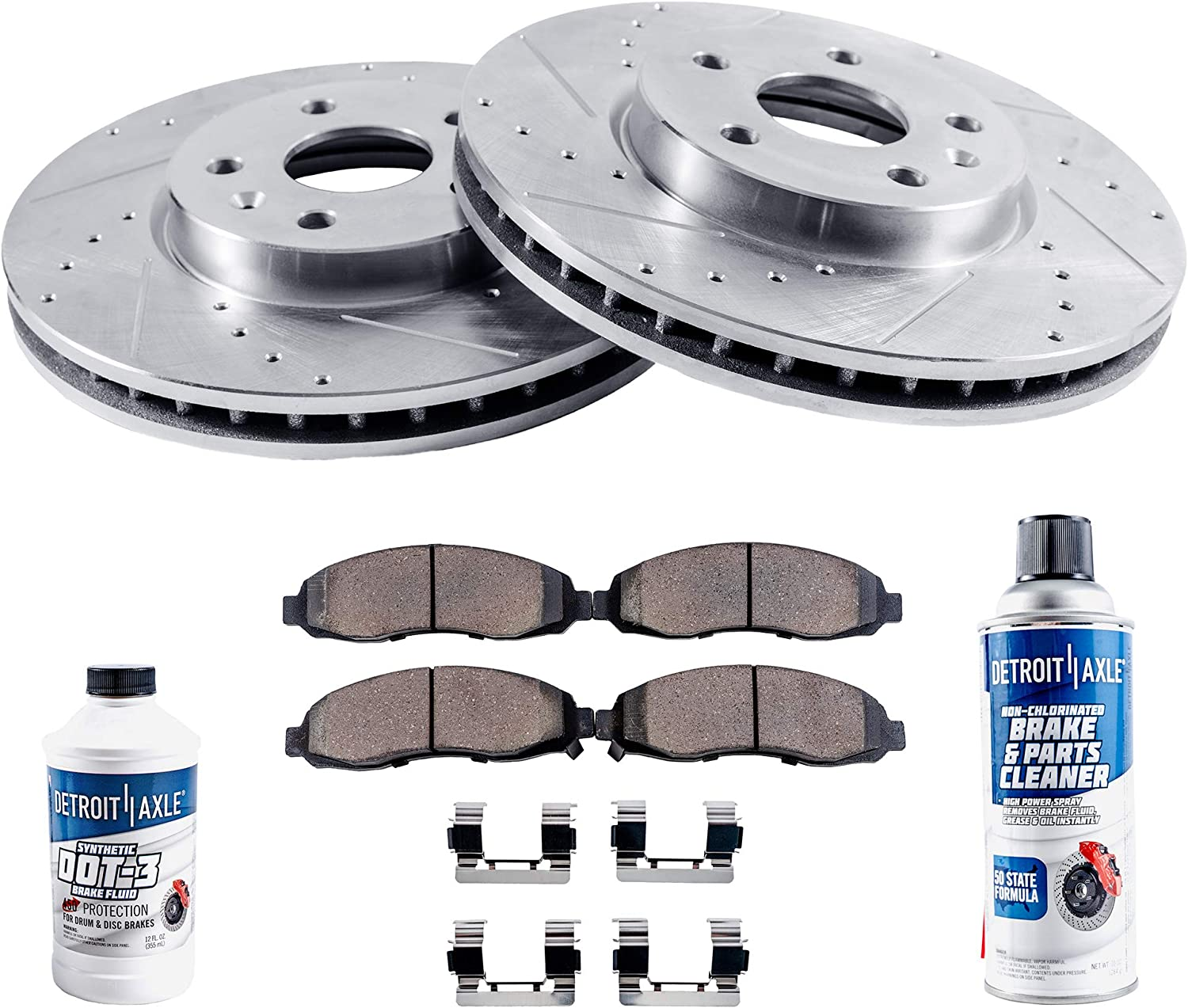 1999 2000 2001 2002 2003 Audi A4 OE Replacement Rotors w//Ceramic Pads F