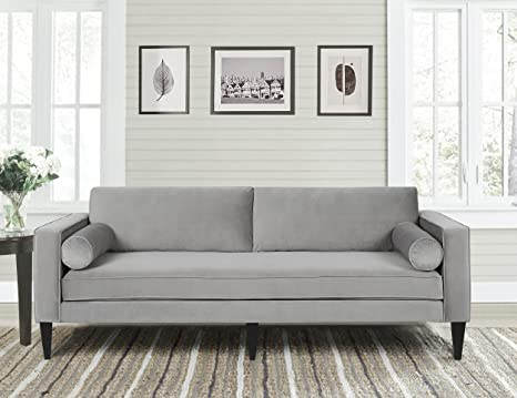 Jennifer Taylor Home 63030-3-865 Nicholi Sofa, Opal Gray